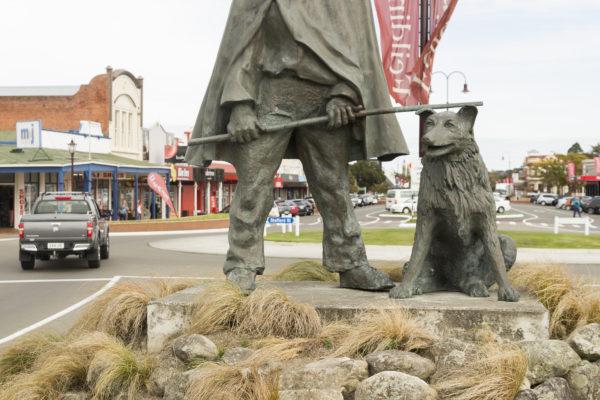 Drover & Dog Statue, Feilding