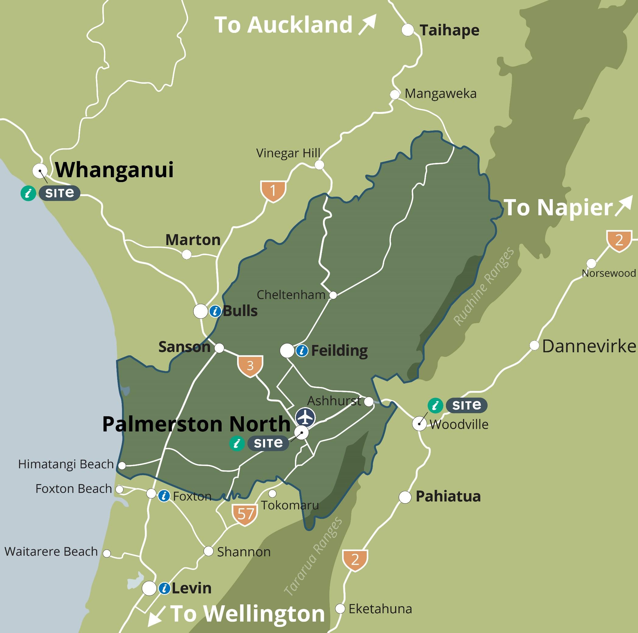 Manawatu Region Map