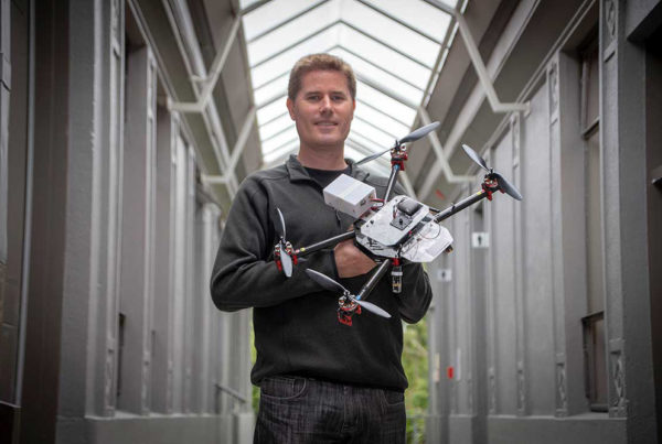 Chris Mueller with his drone